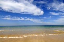 Playa de la península de Troia, parque de Arrabida, área protegida Imágenes de archivo libres de regalías