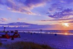 Playa de la puesta del sol de Jurmala Fotografía de archivo