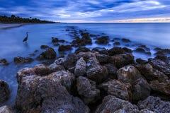 Playa de la puesta del sol de la Florida imagen de archivo