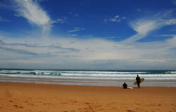 Playa de la resaca Fotografía de archivo