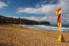 Playa de la resaca Foto de archivo libre de regalías
