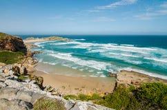 Playa de la reserva de naturaleza de Robberg, ruta del jardín, Suráfrica Imagen de archivo