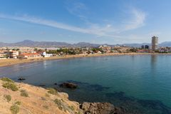 Playa de la Reya beach Puerto de Mazarron Spain stock photography