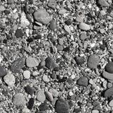 Playa de la ripia en blanco y negro Fotos de archivo