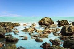 Playa de la roca imagenes de archivo
