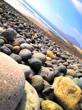 Playa de la roca Fotografía de archivo