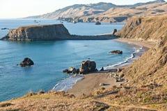 Playa de la roca de la cabra Imagen de archivo libre de regalías