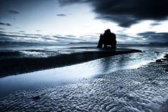 Playa de la roca del dinosaurio en Islandia Fotos de archivo libres de regalías