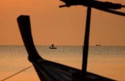 Playa de la salida del sol del paisaje del mar Fotografía de archivo