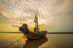 Playa de la salida del sol, Pranburi 3 Foto de archivo