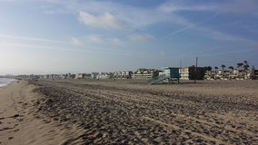 Playa de la tarde Imágenes de archivo libres de regalías