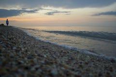 Playa de la tarde Fotos de archivo libres de regalías