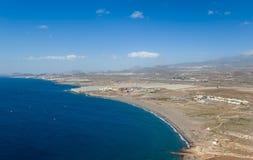 Playa de La Tejita flyg- sikt Royaltyfri Bild