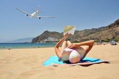 playa de la Teresitas。特内里费岛,坎那利岛 免版税库存图片