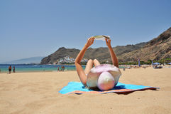 Playa DE La Teresitas. Tenerife, de Canarische Eilanden Stock Fotografie