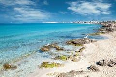Playa de la turquesa cerca de Gallipoli, Italia Fotos de archivo libres de regalías