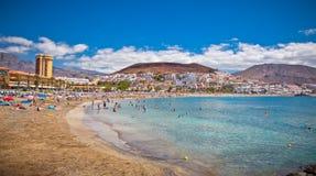 Playa de la Utsikt strand. Tenerife Arkivbild