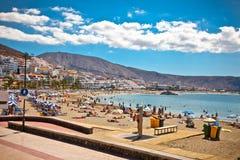 Playa de la Utsikt strand. Tenerife kanariefåglar Arkivfoto