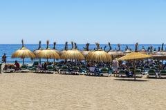 Playa de la Venus in Marbella, Spain royalty free stock photography