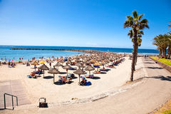 Playa de la Vistas beach. Tenerife, Canaries Stock Photos