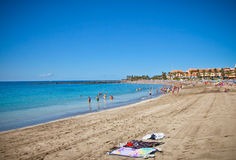 Playa de la Vistas beach. Tenerife Royalty Free Stock Photo