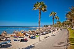 Playa DE La Vistas strand. Tenerife, de Canarische Eilanden Royalty-vrije Stock Foto's