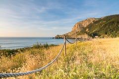 Playa de Laga en el país basque Imagen de archivo