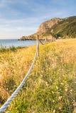 Playa de Laga en el país basque Imagenes de archivo