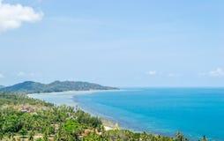 Playa de Lamai con la visión superior Fotografía de archivo