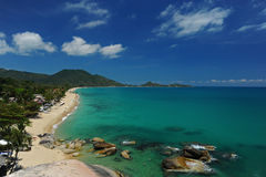 Playa de Lamai en la isla del samui Fotografía de archivo libre de regalías
