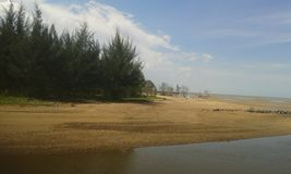 Playa de Lamaru Imagenes de archivo