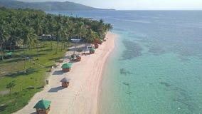 Playa de Lambug almacen de metraje de vídeo
