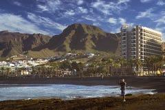 Playa de Las Αμερική, Tenerife, Κανάρια νησιά, Ισπανία Στοκ φωτογραφίες με δικαίωμα ελεύθερης χρήσης