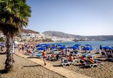 Playa de Las Amériques Ténérife Photos libres de droits