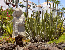 Playa De Las Americas cactus garden Royalty Free Stock Photo