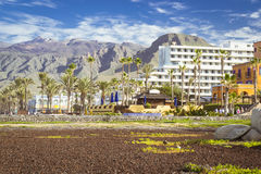 Playa de Las Americas, Tenerife, Canary Islands, Spain Royalty Free Stock Images