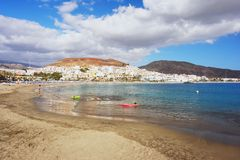 Playa de las Americas, Tenerife. View of the beach Playa de las Americas, Tenerife Royalty Free Stock Photos