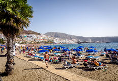 Playa DE Las Amerika Tenerife Royalty-vrije Stock Foto's