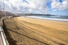Playa DE Las Canteras, Las Palmas de Gran Canaria Royalty-vrije Stock Foto