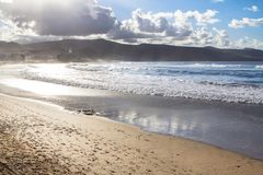 Playa DE Las Canteras, Las Palmas de Gran Canaria Stock Fotografie
