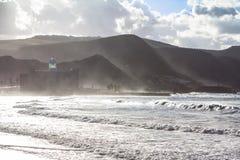 Playa DE Las Canteras, Las Palmas de Gran Canaria Stock Foto