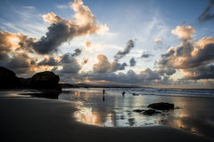 Playa de las Catedrales - пляж соборов Стоковые Изображения