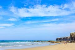 Playa de las catedrales foto de archivo libre de regalías