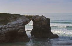 Playa de Las Catedrales fotografía de archivo
