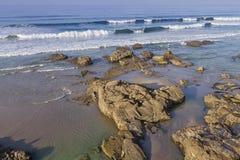 Playa de Las Catedrales imagen de archivo