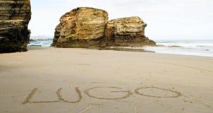 Playa de Las Catedrales Lizenzfreie Stockfotografie