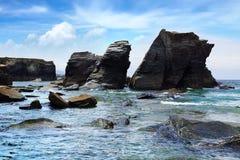 Playa de las catedrales Imágenes de archivo libres de regalías