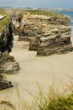 Playa DE Las Catedrales Stock Afbeeldingen