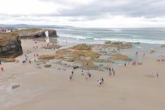 Playa de las catedrales fotos de archivo libres de regalías