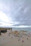 Playa de las catedrales imagen de archivo libre de regalías